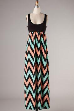 Pre-Order On the Black top Plus Size Xl-3XL chevron maxi dress