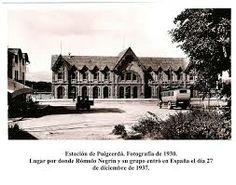 Estación de Puigcerdá en los años 50.