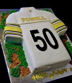 Pittsburgh Steelers Jersey Grooms Cake Michael Anthony Cakes http