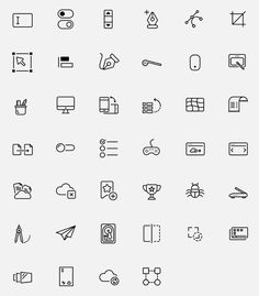 Ознакомьтесь с этим проектом @Behance: «Digital Development and Design Icon Collection» https://www.behance.net/gallery/43862331/Digital-Development-and-Design-Icon-Collection