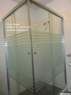 Glass Door, Etched Glass Door, Home Decor, Small Bathroom, Door Glass Design, Bathroom Doors, Glass Design, Bathroom Design, Bathroom Decor