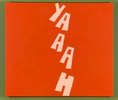 RISD Museum: Carl Ostendarp American, b. 1961. Yaaah, 2009. Acrylic on canvas. 83.8 x 96.5 cm (33 x 38 inches). Helen M. Danforth Acquisition Fund 2009.37.1