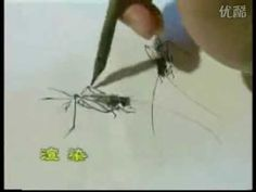 Traditional Chinese Painting Flowers and Birds (Insects) - YouTube