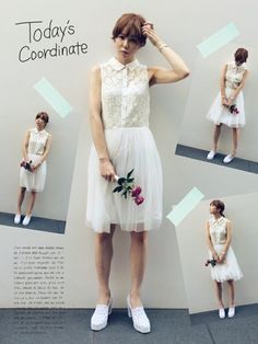 MEGさんのワンピース・ドレス「Brigitte Bardot レースワンピース」を使ったコーディネート