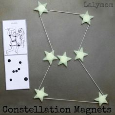 Constellations for Kids - Connecting DIY Star Magnets - LalyMom
