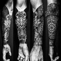 50 Geometric Forearm Tattoo Designs for Men - Manly I .- 50 Geometric Forearm Tattoo Designs for Men – Manly Ideas # ideas - Forearm Sleeve Tattoos, Full Sleeve Tattoos, Tattoo Sleeve Designs, Tattoo Designs For Women, Body Art Tattoos, Tribal Tattoos, Best Forearm Tattoos, Tattoo Arm, Sleeve Tattoo Men