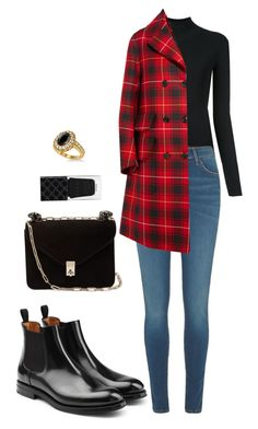 Street style by dalma-m on Polyvore featuring polyvore fashion style Irene Gucci River Island churchs Valentino Allurez clothing