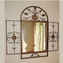 Get the secret garden look with this unique mirror. Hinged doors to add a window dynamic.