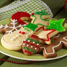 Painted Sour-Cream Sugar Cookies From Better Homes and Gardens, ideas and improvement projects for your home and garden plus recipes and entertaining ideas.