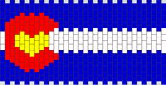 Colorado Flag With Heart bead pattern