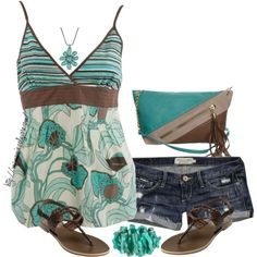 30 Cute Casual Summer Outfits Combinations Love these colors. For me the shorts would need to be a bit longer but still cute outfit.