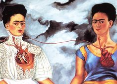 Frida Kahlo 2 Two Fridas reproduction Canvas by celebrityartstudio