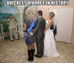 Funny pictures about Quickest divorce in history. Oh, and cool pics about Quickest divorce in history. Also, Quickest divorce in history. Funny Baby Images, Funny Pictures For Kids, Crazy Pictures, Fail Pictures, Amazing Pictures, American Funny Videos, Funny Dog Videos, Humor Videos, Funny Girls
