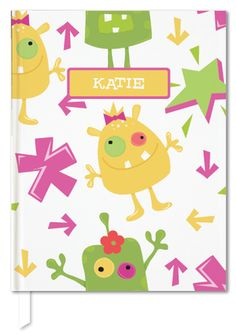 Girl Monsters Rock! Custom journals for kids by Julie Bluet.