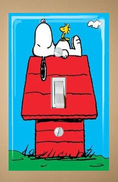 Snoopy Single Light Switch Plate Cover. $7.00, via Etsy.