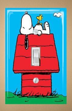 Snoopy Single Light Switch Plate Cover. $7.00, via Etsy.