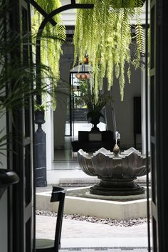 """Untitled"" - @ The Siam Hotel, Bangkok. Lobby Interior, Interior Architecture, Interior Design, The Siam Hotel, Modern Water Feature, Modern Fountain, Villa Design, Fireplace Design, House In The Woods"