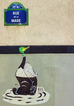 #photo Le canard de la rue de la Mare #Paris20 @Menilmuche @kichoton #streetart