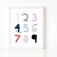 Numbers Wall Art print Numbers printable 123 prints