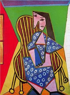 Woman in striped armchair, 1941 - Pablo Picasso