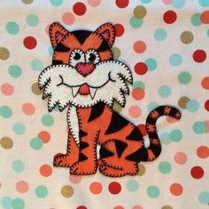 Tiger PDF applique quilt block pattern; whimsical baby or child's quilt pattern…