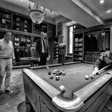 Classic cars take the prime spot in this classic car wall art and design supply installation of a bespoke pool table to brooks brothers rome keyboard keysfo Images