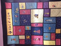 A Disney quilt - Brother Embroidery machine.  This one is hanging at the sewing machine store.  Love it!