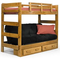 Savannah Twin Over Futon Bunk Bed Rugged Good Looks And Quality Construction Ensure This Will Make A Great Addition To Any Bedroom