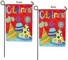 Let's Celebrate 2 Sided Birthday Garden Flag