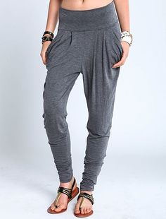Jersey Knit Harem Pants...Is it ok to say I want a pair and would wear them other then to work out in or at home... I love these!
