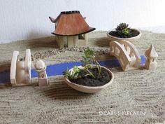 Miniatur-Landschaft mit Teehaus-GarZenKunst AKR 15 von Garten- und Hauskeramik von GABI-S-KREATIV auf DaWanda.com