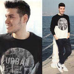 H&M Sweater, Pull & Bear Pants, Nike Blazers
