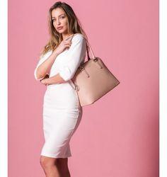 Γυναικεία Τσάντα Ώμου με Διπλό Φερμουάρ - Μake up
