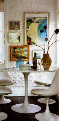 Tulip table . . .