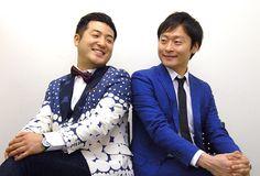 M-1優勝への思いを語る和牛の水田信二(左)と川西賢志郎=清水有香撮影