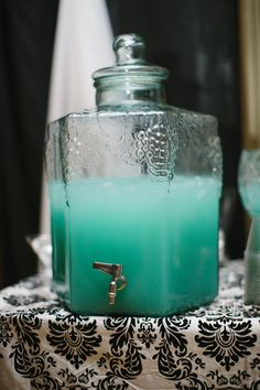 tiffany blue wedding punch