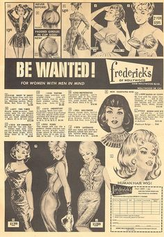 Vintage Fredrick's Of Hollywood ad