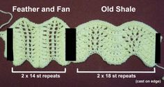 Detailed article describing the difference between feather and fan stitch and Old Shale stitch.  (turns out most of what I thought was feather and fan is in fact old shale!)