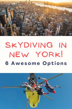 Want to go skydiving in New York? We've been, and it was one of the most incredible experiences of our lives! Here are a bunch of awesome places you can go skydiving near NYC today! Travel Articles, Travel Info, Travel List, Travel Packing, Us Travel, Responsible Travel, Slow Travel, Top Hotels
