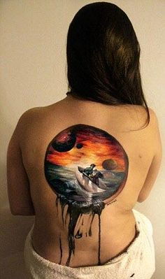 Women Tearing Themselves Apart In Unique Body Painting Photo Set - Women Tearin. Back Tattoos, Body Art Tattoos, Small Tattoos, Music Tattoos, Piercings Ideas, Nose Piercings, Photographie Art Corps, Body Painting Artists, Art Halloween