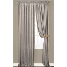Faux Silk Luster Crushed Curtain Panel Pair | Overstock.com