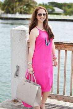 #oldnavystyle #oldnavy #baublebar #pinkandteal #howtowear #kendrascott #floridablogger IG: Ninaerin18 www.lawoffashionblog.com
