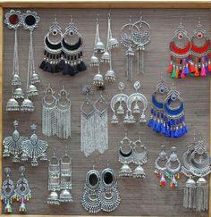 Jewellery Brands Like Swarovski. Indian Jewelry Earrings, Silver Jewellery Indian, Indian Wedding Jewelry, Fashion Earrings, Jewelery, Silver Jewelry, Fashion Jewelry, Jewellery Box, Handmade Jewellery