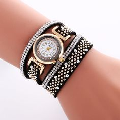 Rivet Lint Strap Fashion Small Dial Watch