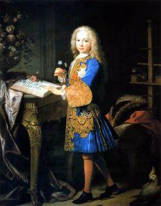 Carlos III de niño, 1724. by Jean Ranc.