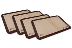 4-piece Sil-Eco US Half Sheet Silicone Nonstick Baking Mat Set ^^ You can find more details at : baking necessities