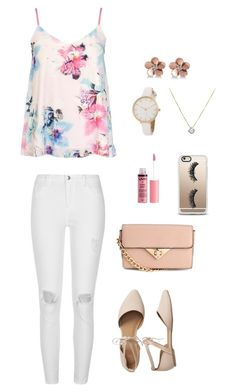 Rose Pink outfit by natasha-esprecielo on Polyvore featuring Dorothy Perkins, River Island, Gap, Allurez, Casetify and Charlotte Russe