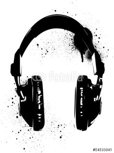 Vector: Headphones Graffiti