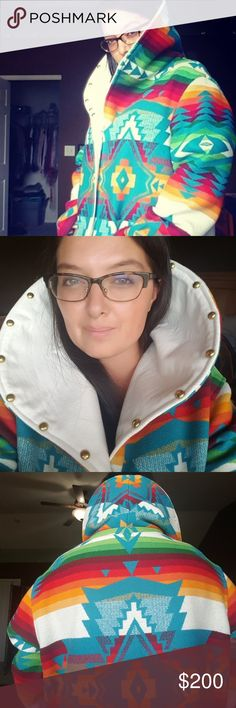 I make custom Pendleton Jackets! I do custom order Pendleton coats and jackets.  This is an example of one. I order directly from the Pendleton outlet in Portland.  Sept they are having a 30% sale which means fabric is $44 to $64 per yard. Otherwise it's 64 to 94 a yd. If you have your own material that's great! I charge 200.00 to sew. Check out my capes too! Pendleton Jackets & Coats