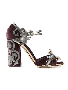 Shop Dolce & Gabbana velvet baroque embellished sandals in Biondini Paris from the world's best independent boutiques at farfetch.com. Over 1000 designers from 60 boutiques in one website.